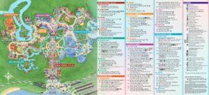 Disney Magic Kingdom Karte im Walt Disney World