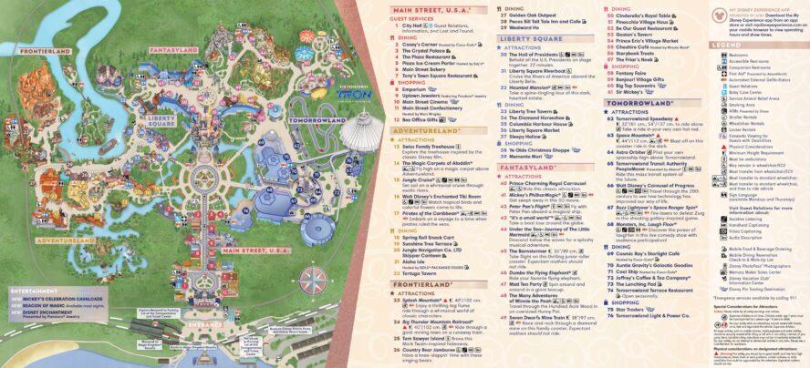Disney Magic Kingdom (Florida)- Parkkarte
