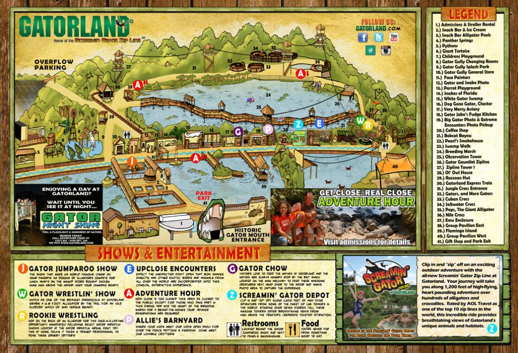 Gatorland Orlando Karte