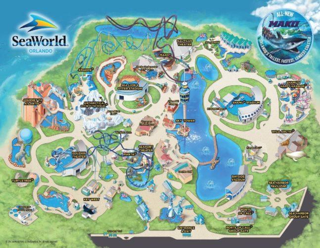 SeaWorld Orlando - Park-Karte