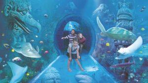 Sea Life Orlando, der bekannte Untersee-Tunnel