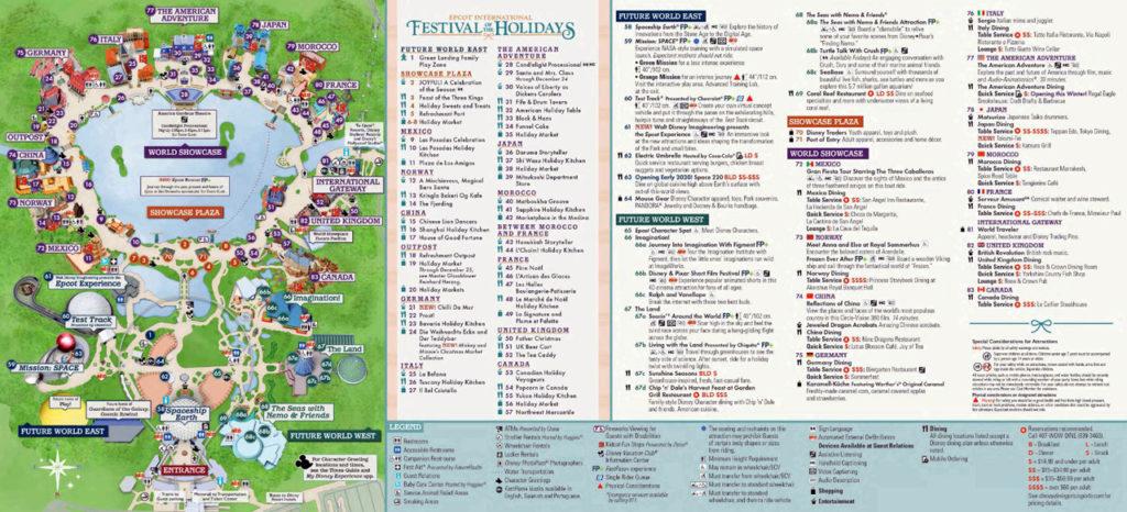 Disney Epcot Karte