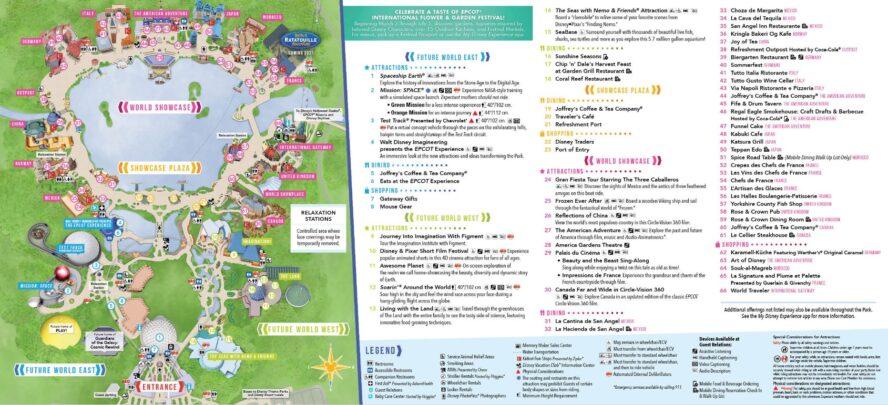 Disney Epcot (Florida) - Parkkarte