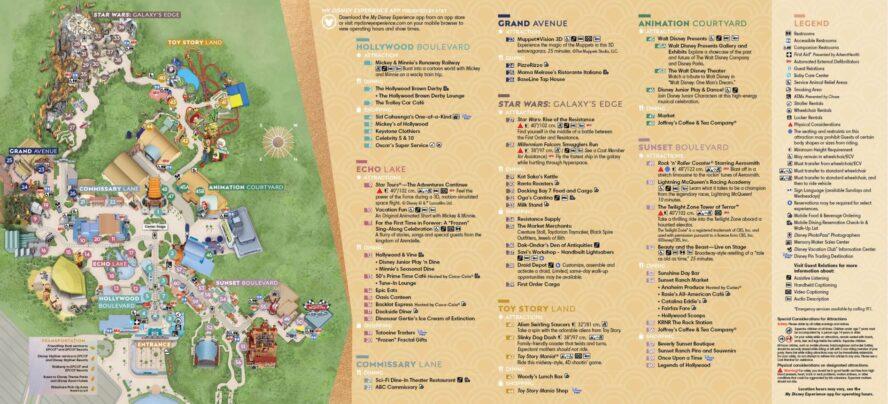 Disneys Hollywood Studios (Florida) - Parkkarte