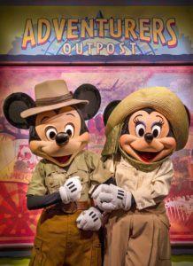 Mocky und Minnie in Disney's Animal Kingdom (Florida)