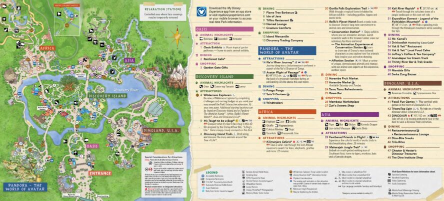Disneys Animal Kingdom (Florida) - Parkkarte