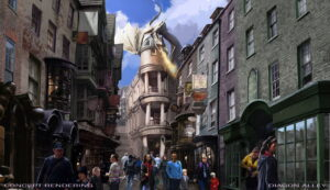 Harry Potter: Diagon Alley in den Universal Studios Orlando (Florida)