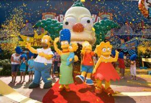 The Simpsons Ride in den Universal Studios Orlando (Florida)