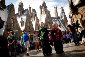 Harry Potter Hogsmeade im Universal Park in Orlando (Florida)