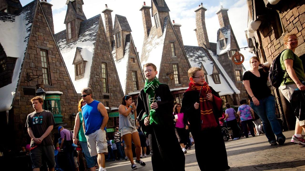 Harry Potter Hogsmeade im Universal Park in Orlando (Florida)