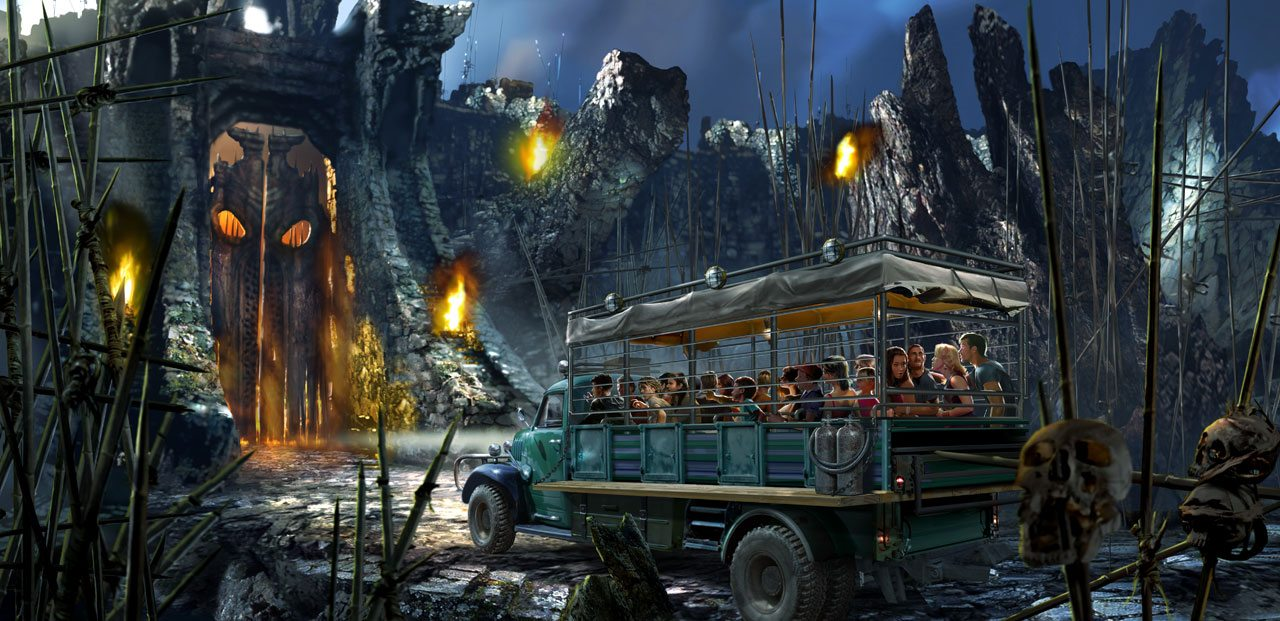 Skull Island: Reign of Kong in Universal's Islands of Adventure in Orlando (Florida)