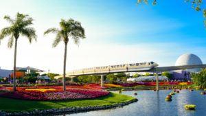 Epcot Disney Florida Mit Monorail