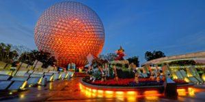 Epcot-Park im Walt Disney World mit Mickey Maus