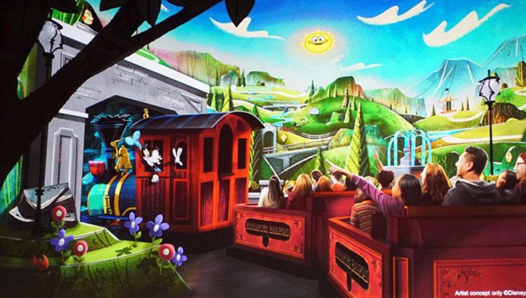 Mickey & Minnie's Runaway Railway Mockup