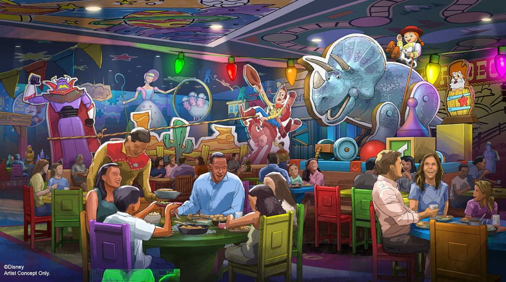 "Neues ""Roundup Rodeo BBQ""-Restaurant im Toy Story Land in Disney's Hollywood Studios"