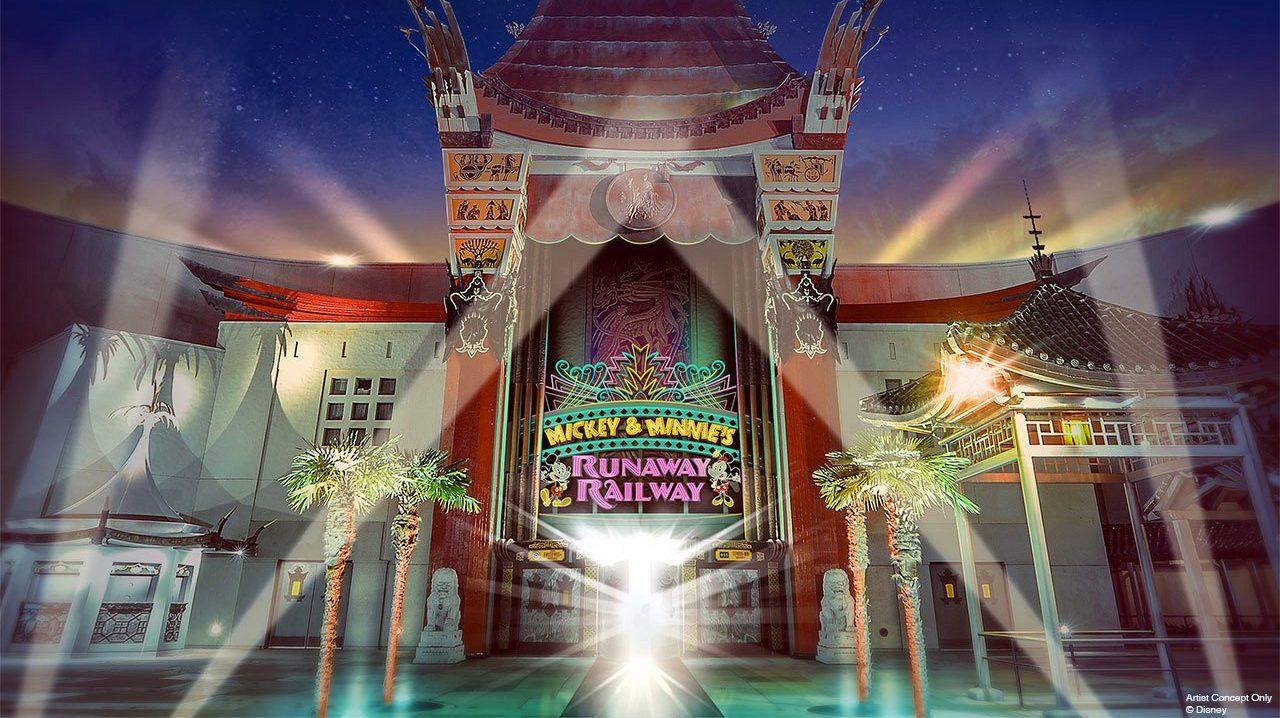 Mickey Minnies Runaway Railway Fassade