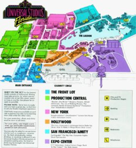 Universal Studios Florida 1990 - Parkkarte