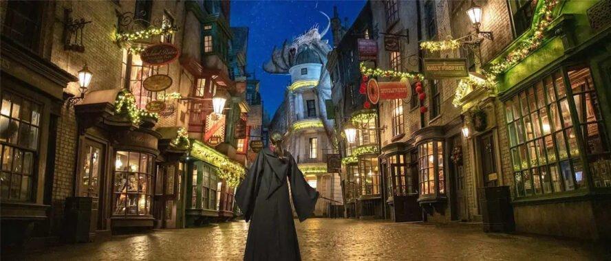 Weihnachten bei Universal Orlando bei Harry Potter