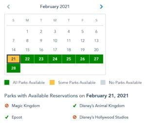 Disney Park Pass Reservierungen - Verfügbarkeit überprüfen